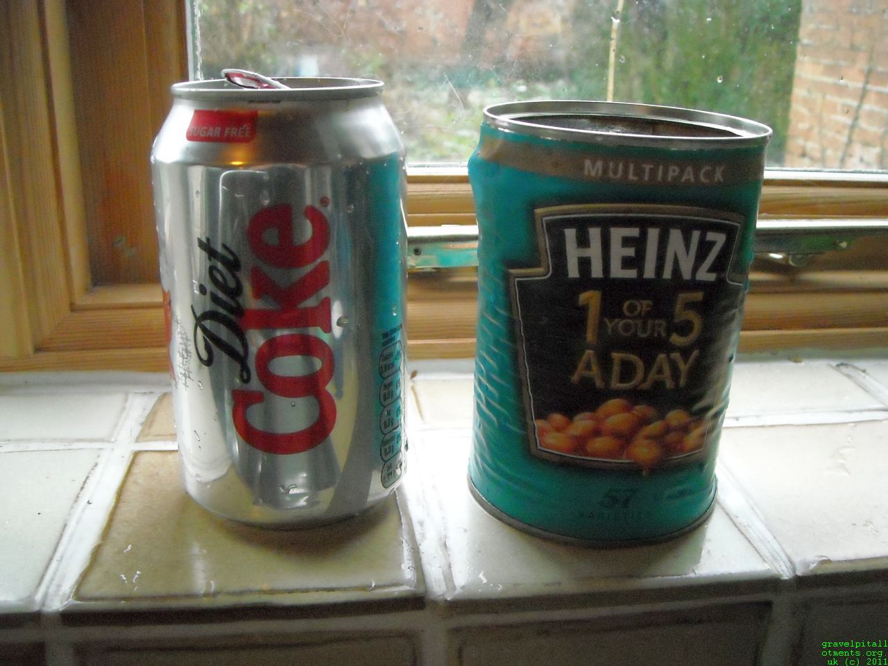 Diet Coke Can and Heinz Baked Beans Can