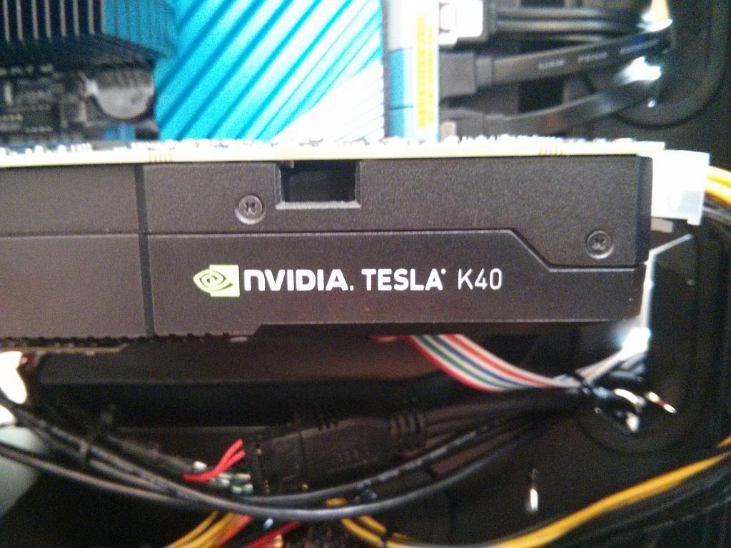 nVidia Tesla K40 installed