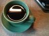 perfect cup of coffee in espresso cup