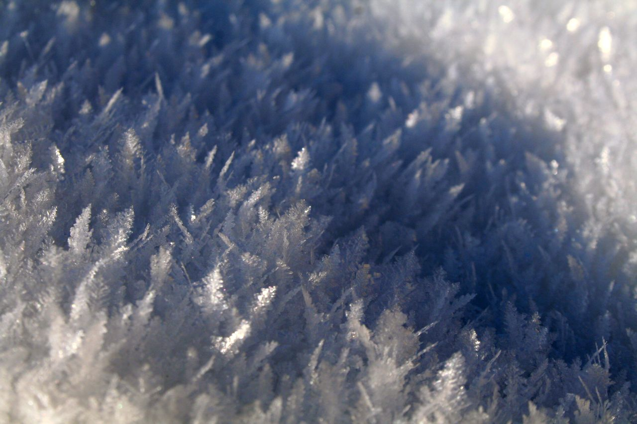 Ice Crystals created by cold Frost