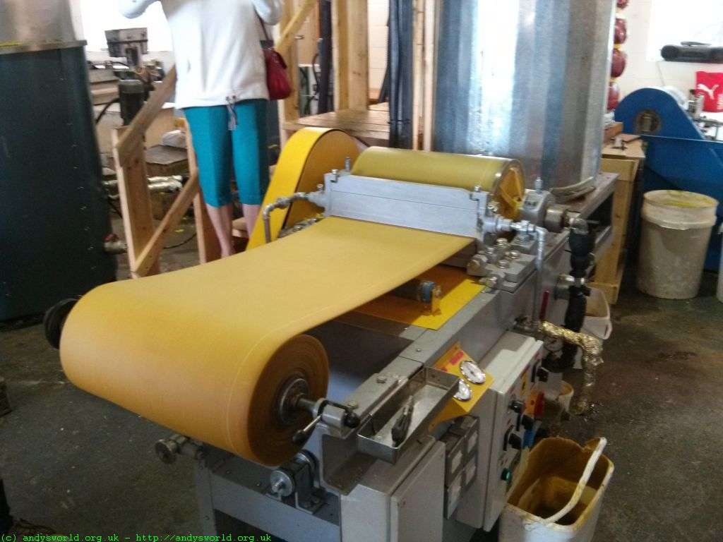 creating a wax roll reading for imprintining