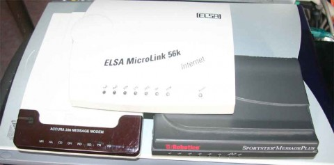 Hayes Accura 336 Message Modem, US Robotics Sportster MessagePlus and ELSA Microlink 56k