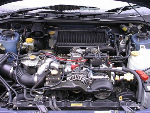 Subaru Impreza under the bonnet