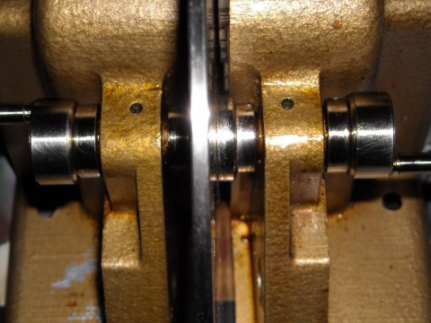 close-up of flywheel