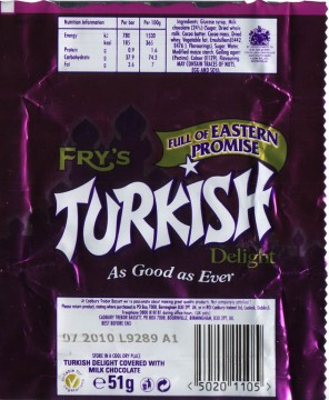The last Frys Turkish Delight to be made in Britain!