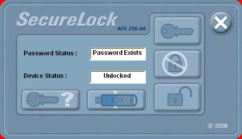 Securelock software after password entered correctly AES Secure Unlocked for use