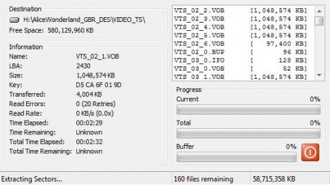 DVD Decrypter output 2