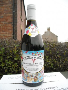 A bottle of Beaujolais Nouveau 2010
