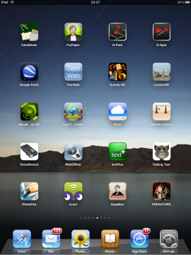 iPad iOS 3.2.1 No Folders