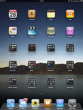 iPad iOS 4.2.1 Folders to organize apps