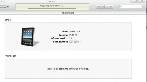Upgrading iOS 3.2.1 to iOS 4.2.1