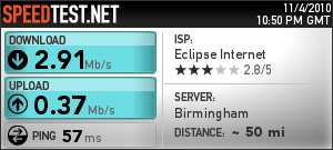 SpeedTest.net 4 Nov 2010