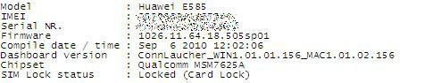 Before - UK 3 E585 Locked with firmware sp01