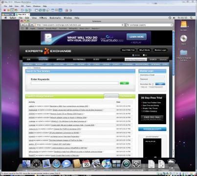 Mac OS X 6.5.2 in VMware Workstatiobn 6.5.3 Virtual Machine