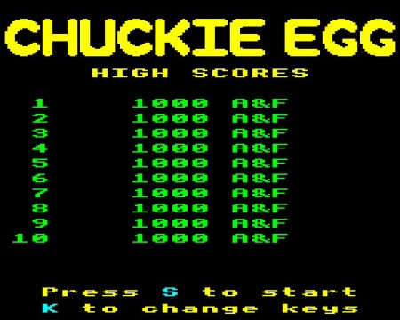 Chuckie Egg on the BBC Micro