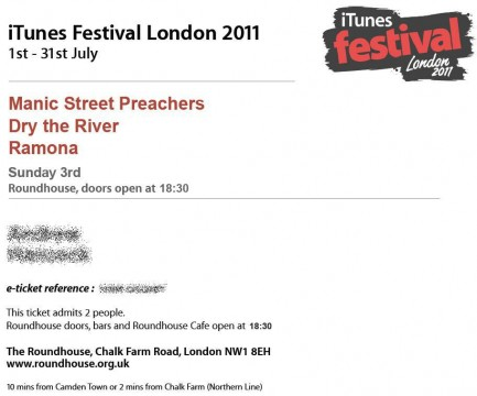Tickets for Manic Street Preachers