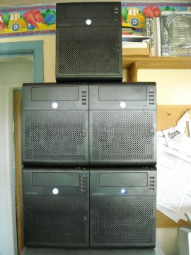 A Cluster of HP Proliant MicroServers