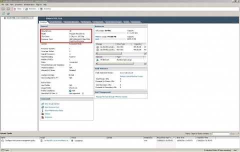 VMware ESXi 5.0 tested on HP ProLiant MicroServer N36L