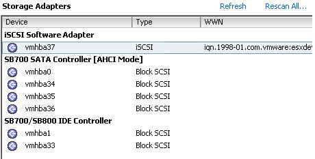 ESXi 4.1 U1 Storage Adaptors listed in vSphere GUI Client before tweak