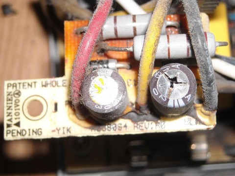 Capacitor cap blown-out