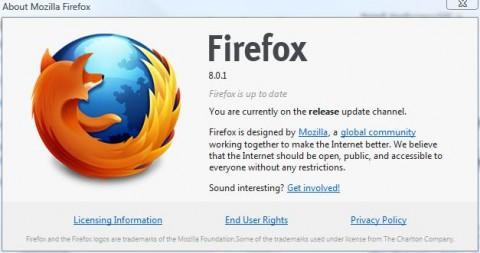 New Mozilla Firefox 8.0