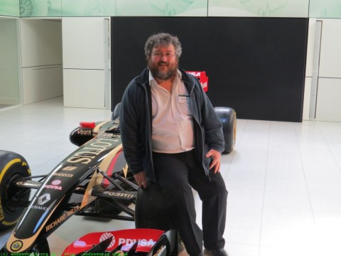 My fat arse on a Lotus F1 Racing Car!