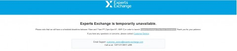 Experts Exchange Is Temporarily Unavailable