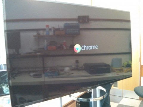 Google Chromecast starting on a Sony XBR65X850A 65-Inch 4K Ultra HD