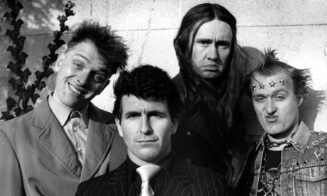 Rik Mayall (far left) in the Young Ones