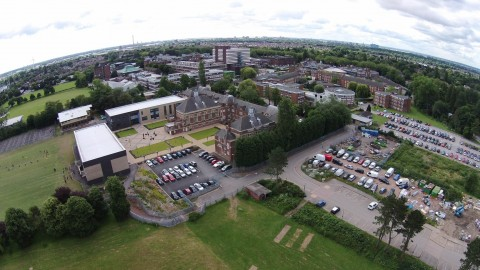 Aerial View of University of Hull from quadcopter