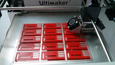 Photograph of the 15 Apidea Queen Excluders printing in progress