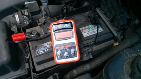 Old Car battery CCA 300 - FAIL