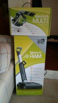 Gtech AirRAM K9 Cordless vacuum cleaner and Gtech Multi handheld