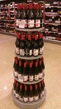 Beaujolais Nouveau stand in Waitrose in Wilerby!