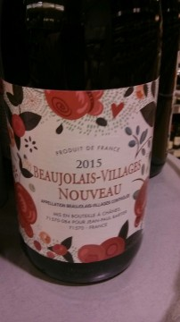 My bottle of Beaujolais Nouveau