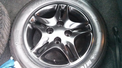 refurbished satin black alloys