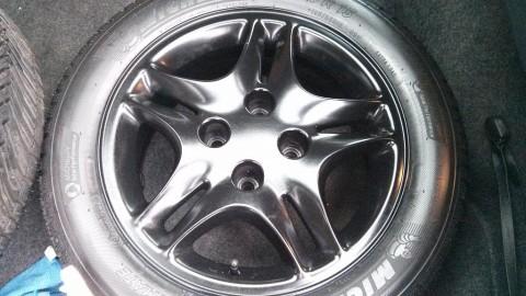refurbished satin black alloys