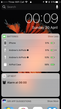 iPhone Charging Widget