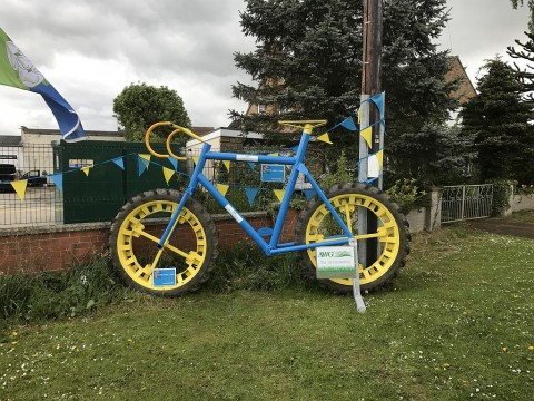 Monster bicycle outside Peter Wynn Tyres