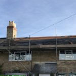 New Welsh Slate Roof - Re-slating continues - Day 5 (Morning)