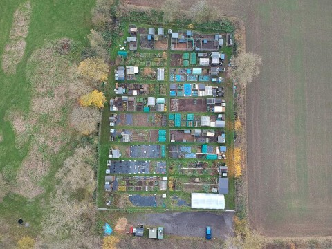 Gravel Pit Field Allotments from 350 feet