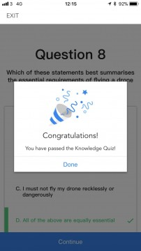 DJI Knowledge Quiz - Pass