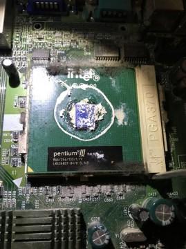 Intel Pentium III in SuperMicro motherboard