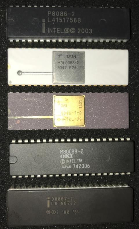 Intel 8086, 8088, 8087 Processors