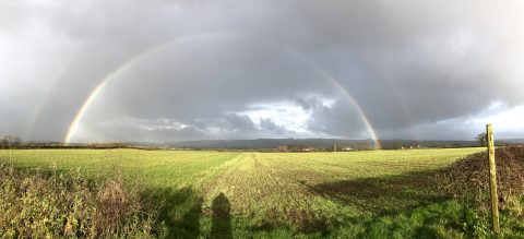 Double Rainbow above 'The Shire'