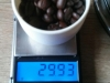 Weigh the coffee beans.