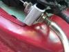 metal bracket in place