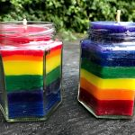 Rainbow Beeswax candles complete for our NHS staff and essential workers keeping Britain going through COVID-19.